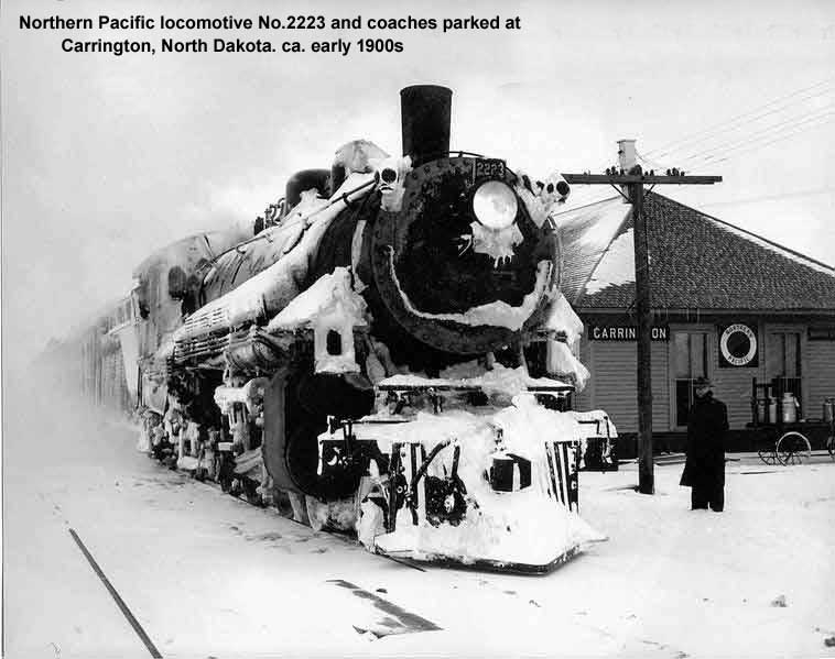 NP engine No.2223 and coaches