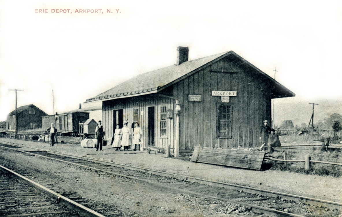Erie Arkport, NY train depot