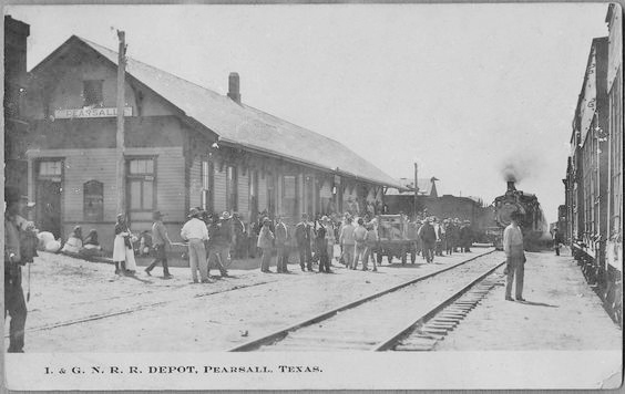 I&GN R.R. depot, Pearsall TX