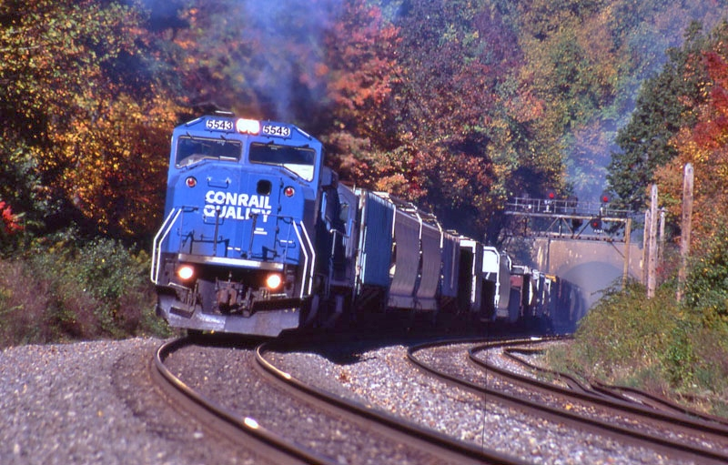 Eastbound Conrail freight