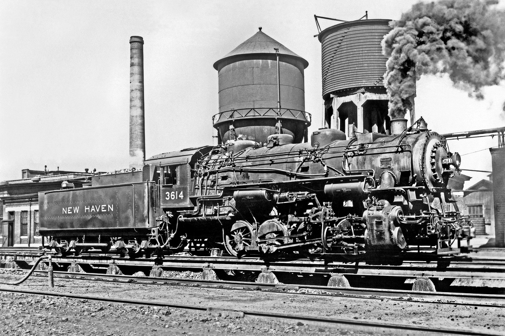 New Haven R.R. coal burning steam switcher No.3614